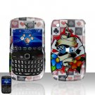 Blackberry Curve 8520 8530 Dice Poker Cards Cover Case Snap on Protector