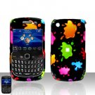 Blackberry Curve 8520 8530 Colorful Paint Cover Case Snap on Protector