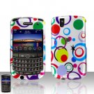 Blackberry Tour 9630 Colorful Dots Cover Case Snap on Protector