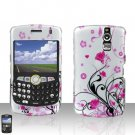 BLACKBERRY CURVE 8350i 8350 Pink Flowers Case Cover Snap on Protector