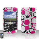 BLACKBERRY CURVE 8350i 8350 Pink Dots Case Cover Snap on Protector