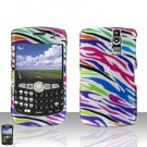 BLACKBERRY CURVE 8350i 8350 Rainbow Zebra Case Cover Snap on Protector