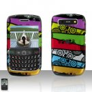 Blackberry Curve 8900 Javelin Colorful Stripes Cover Case Hard Case Snap on Protector