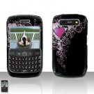 Blackberry Curve 8900 Javelin Pretty Heart Cover Case Hard Case Snap on Protector