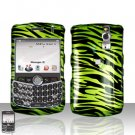 Blackberry Curve 8330 8300 Green Zebra Hard Snap on Case Cover