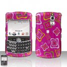 Blackberry Curve 8330 8300 Squares Design Pink Hard Snap on Case Cover