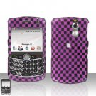 Blackberry Curve 8330 8300 Pink Checkered Hard Snap on Case Cover