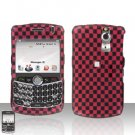 Blackberry Curve 8330 8300 Red Checkered Hard Snap on Case Cover