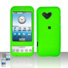 HTC Google G1 Android Neon Green Cover Case Snap on Protector