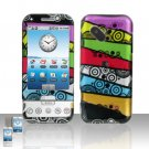 HTC Google G1 Android Color Stripes Cover Case Snap on Protector