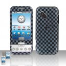HTC Google G1 Android Grey Checkered Cover Case Snap on Protector