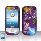 HTC G2 MyTouch 3G Purple Design Cover Case Snap on Protector