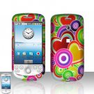 HTC G2 MyTouch 3G Coloful Hearts Cover Case Snap on Protector
