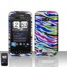 HTC Imagio Touch Diamond 2 CDMA Rainbow Zebra Cover Case Snap on Protector