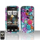 HTC Droid Eris S6200 Colorful Flowers Case Cover Snap on Protector