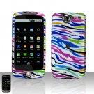 HTC Google Nexus One Rainbow Zebra Case Cover Snap on Protector