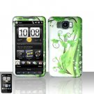 HTC Leo HD2 Pretty Green Leaves Case Cover Snap on Protector