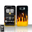HTC Leo HD2 Flames Case Cover Snap on Protector