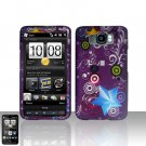 HTC Leo HD2 Purple Design Case Cover Snap on Protector