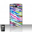 HTC Leo HD2 Rainbow Zebra Back Case Cover Hard Protector