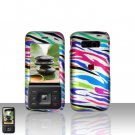 Kyocera Laylo M1400 Rainbow Zebra Case Cover Snap on Protector