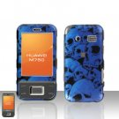 Huawei M750 Blue Skull Case Cover Snap on Protector