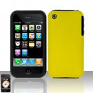 Yellow Silicon + Hard Cover Case Snap on Protector for Apple iPhone 3G 3GS
