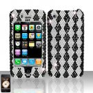 Black Diamond Design Full Diamond Cover Case Hard Snap on Protector for Apple iPhone 3G 3GS