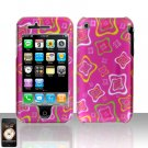 Pink Squares Design Cover Case Hard Snap on Protector for Apple iPhone 3G 3GS