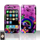 Butterflies Design Pink Cover Case Hard Snap on Protector for Apple iPhone 3G 3GS