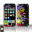 Colorful Music Design Cover Case Hard Snap on Protector for Apple iPhone 3G 3GS
