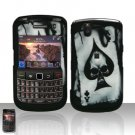Blackberry Bold 9650 Spade Skull Cover Case Snap on Protector