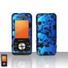 Blue Skull Case Cover Snap on Protector for ZTE C70