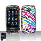 Rainbow Zebra Cover Case Snap on Protector for Samsung Reality U820