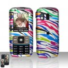 Rainbow Zebra Cover Case Snap on Protector for Samsung Rant M540