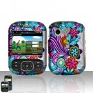 Colorful Flowers Cover Case Snap on Protector for LG Remarq LN240