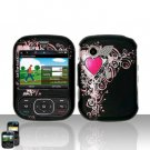 Pretty Heart Cover Case Snap on Protector for LG Remarq LN240