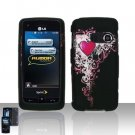 Pretty Heart Cover Case Snap on Protector for LG Rumor Touch LN510