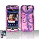 HTC myTouch Slide 3G Purple Vines Case Cover Snap on Protector
