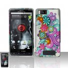 Motorola Droid X MB810 Colorful Flowers Case Cover Snap on Protector