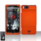 Motorola Droid X MB810 Orange Case Cover Snap on Protector