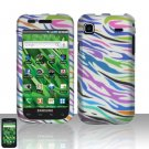 Samsung Vibrant T959 Rainbow Zebra Case Cover Snap on Protector