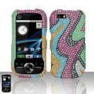 Rainbow Diamond Hard Snap On Case Cover for Motorola i1