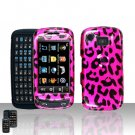 Pink Leopard Hard Snap On Case Cover for Samsung Impression A877