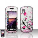 Pink Flower Cover Case Snap on for Samsung Solstice A887