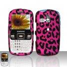Pink Leopard Snap On Hard Cover Case for Samsung Freeform R350 R351