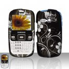 White Flowers Snap On Hard Cover Case for Samsung Freeform R350 R351