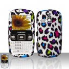 Colorful Leopard Snap On Hard Cover Case for Samsung Freeform R350 R351