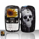 Skull Snap On Hard Cover Case for Samsung Freeform R350 R351