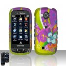 Green Flower Hard Snap On Cover Case for Samsung Reality U820